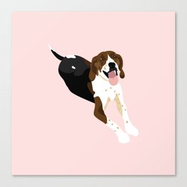Lucy the Coonhound Canvas Print