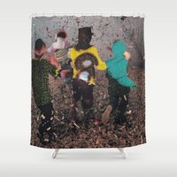 butterfly Shower Curtains featuring Butterfly by Lerson