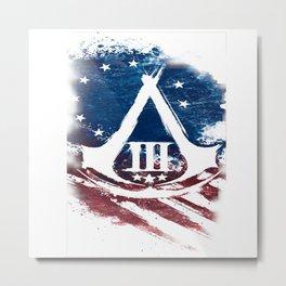 Assassin custom Logo American Stripe Metal Print