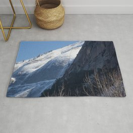 Mountain with Snow Rug