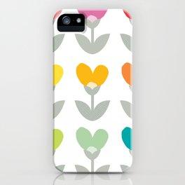 Heart petals iPhone Case