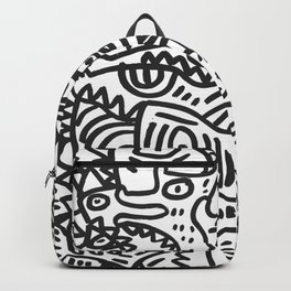 Black and White Street Art Graffiti King's Party Backpack