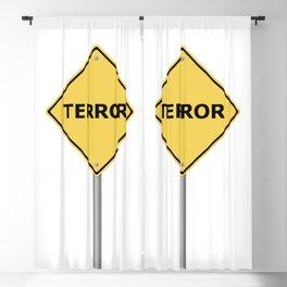 Terror Warning Sign Blackout Curtain