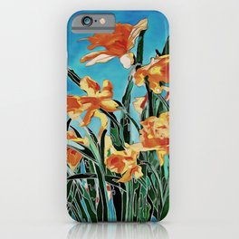 Blooming Golden Daffodils iPhone Case