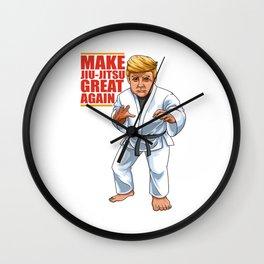 BJJ Trump - Make Jiu Jitsu Great Again Wall Clock