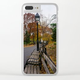 NYC Benches & Trees Clear iPhone Case