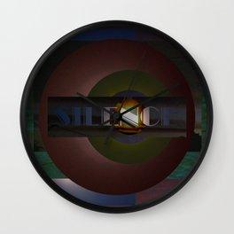 Breakdown 05.  Abstract art print. Wall Clock