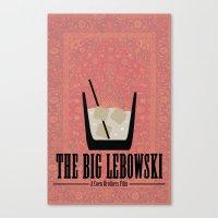 big lebowski Canvas Prints featuring The Big Lebowski. by Ellie argueta