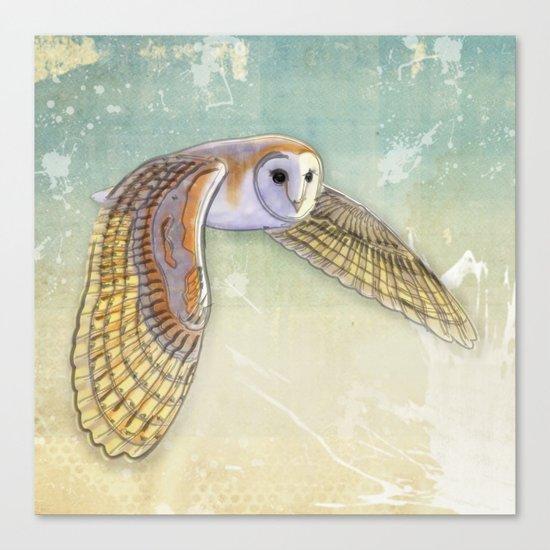 Barn Owl Labyrinth Canvas Print