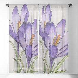 Crocuses Sheer Curtain