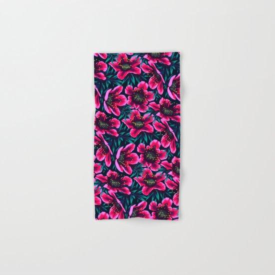 Manuka Floral Print Hand & Bath Towel