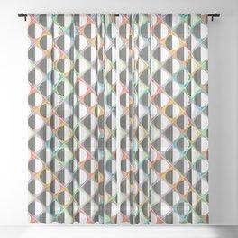 eclipse diamonds Sheer Curtain
