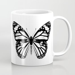 Monarch Butterfly | Black and White Coffee Mug