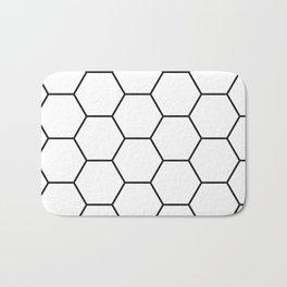 Minimalist Black and White Geometrical Pattern Badematte
