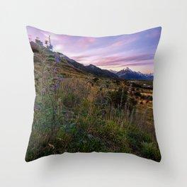 Mount Cook Nightfall Throw Pillow