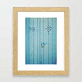 The Love Door Framed Art Print