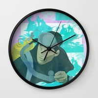 scuba Wall Clocks featuring Scuba Steve by Even In Death