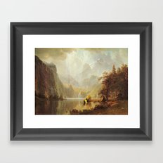 I Like To Bike Framed Art Print