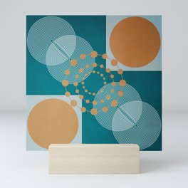 Law Of Attraction - Abstract Geometric Circles Mini Art Print