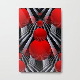 crazy lines and balls -22- Metal Print