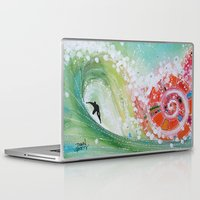narnia Laptop & iPad Skins featuring Surf Wave Somewhere in Narnia by ArtSeriously