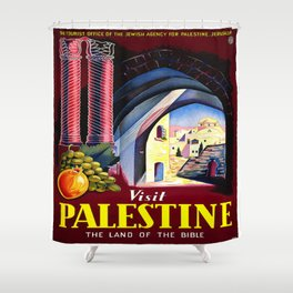 Vintage poster - Palestine Shower Curtain