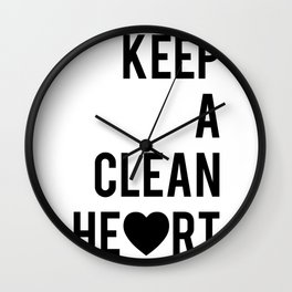 Typographic Quote Print In Black And White Wall Clock