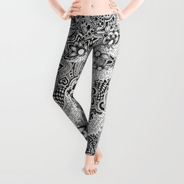 Doodle and zentangle art 1 Leggings