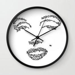 Marilyn Monroe WordsPortrait Wall Clock