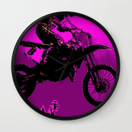 MX  - Motocross Racer Wall Clock