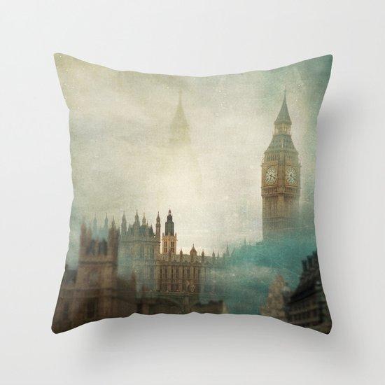 London Surreal Throw Pillow