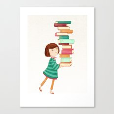 Library Girl 3 Canvas Print