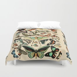 Papillon I Vintage French Butterfly Charts by Adolphe Millot Duvet Cover