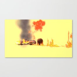 Oil line Canvas Print
