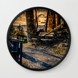 Magic Moments in the Mountains Wall Clock