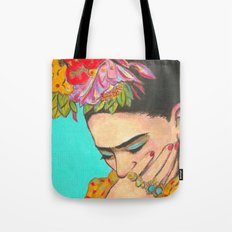 FRIDA KAHLO THINKS  Tote Bag