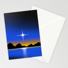 Star Horizon 101 Black Sky Stationery Cards