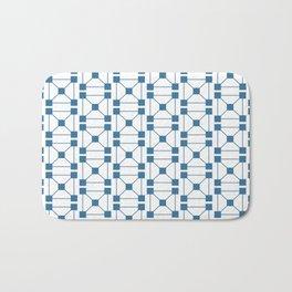 Block Pattern Bath Mat