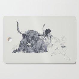 A Wandering Bull (Taurus) Cutting Board
