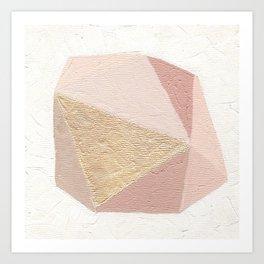 Gold Gem Geometric Painting Art Print