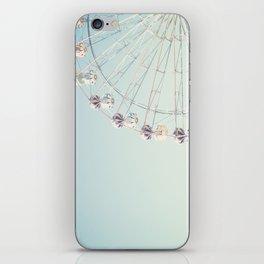 Soft blue ferris wheel  iPhone Skin