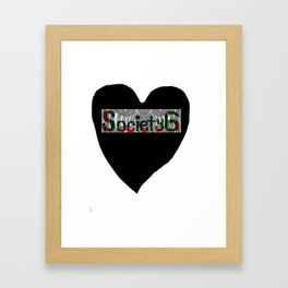 I love Society6 Tee #3 Framed Art Print