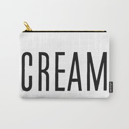 Cream Carry-All Pouch