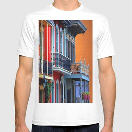 Colorful French Quarter Row Homes T-shirt