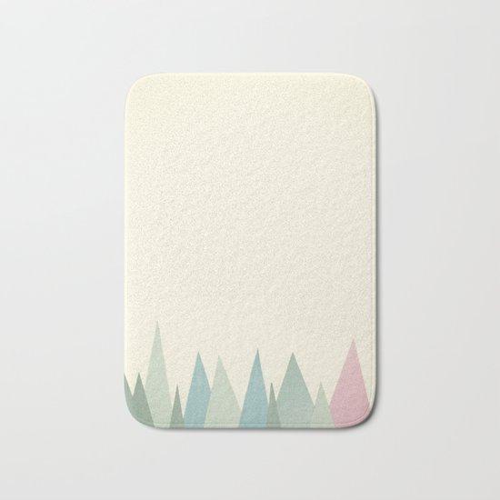 Snowy Mountains Bath Mat