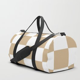 CHECKERBOARD (TAN & WHITE) Duffle Bag