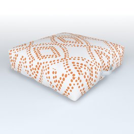 Diamond Dots in Orange Outdoor Floor Cushion