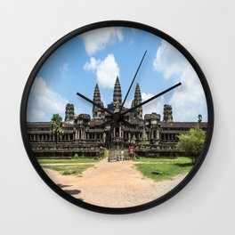 Angkor Wat East Entrance, Cambodia Wall Clock