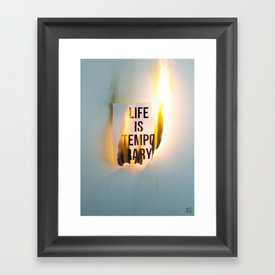 Temporary Framed Art Print