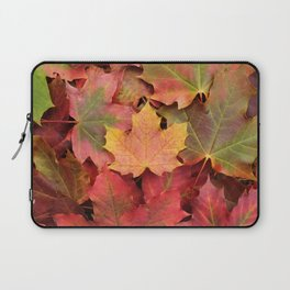 Yellow, green and red maple leaves Laptop Sleeve